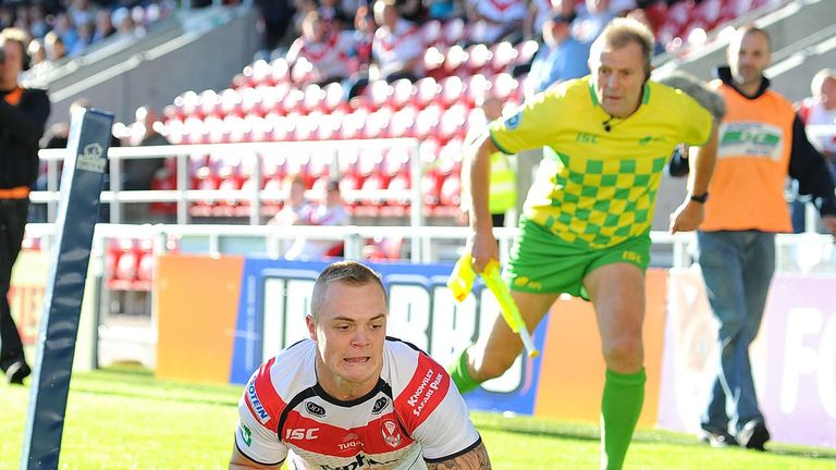 Adam Swift: two tries for Saints