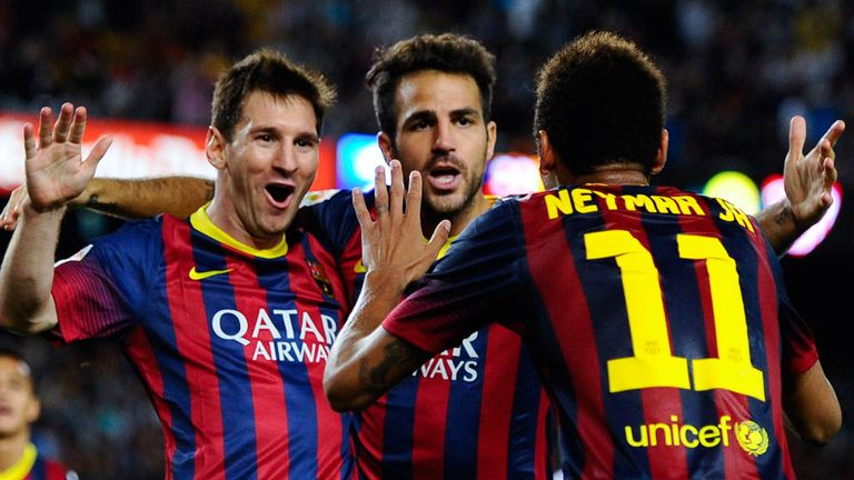 Messi, Cesc and Neymar: Barca's new holy trinity