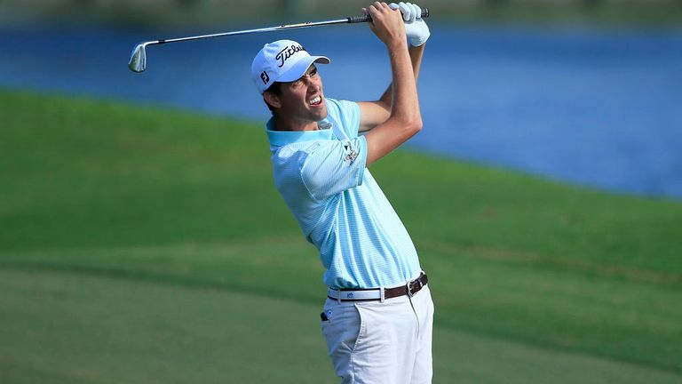 Chesson Hadley during his second round 66 in Florida on Friday