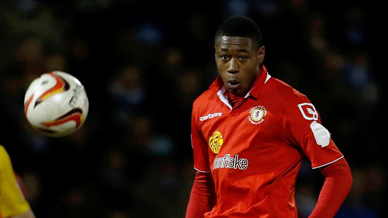 Chuks Aneke: Midfielder staying at Crewe for the season