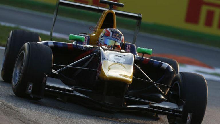 Daniil Kvyat: On pole at Monza (GP3 Series Media)