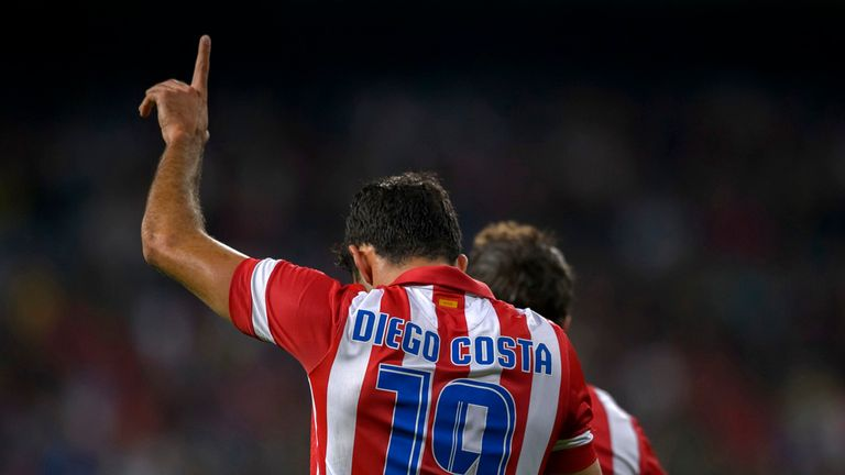 Diego Costa: Celebrates Atletico's winner