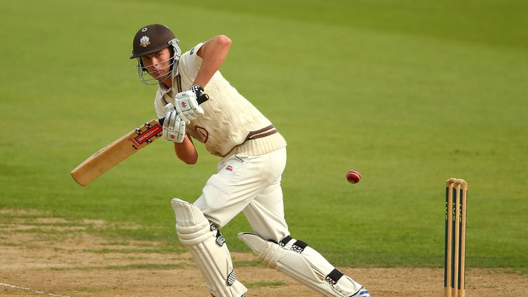 Dominic Sibley: Hit an unbeaten 220 to become the youngest Surrey batsman to make a first-class hundred
