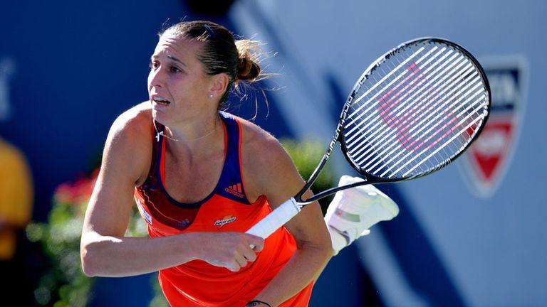 Flavia Pennetta: The Italian top seed was surprisingly beaten by Kimiko Date-Krumm