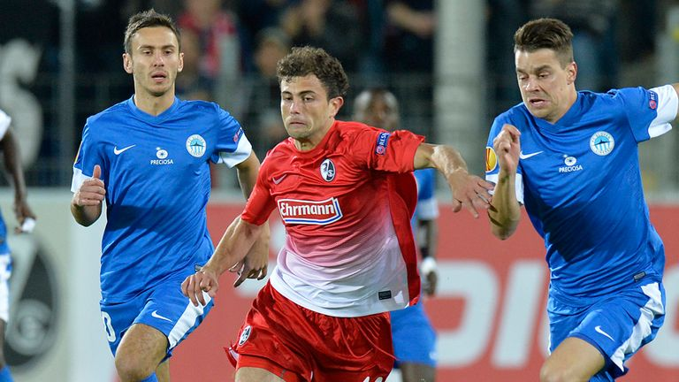 Admir Mehmedi: Freiburg forward battles for the ball