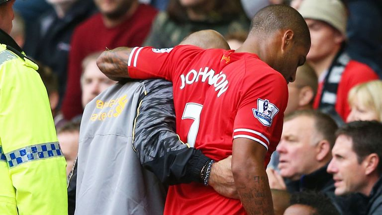 Glen Johnson: Left Anfield on crutches following victory over United