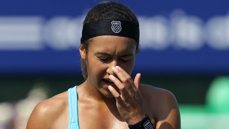 Heather Watson: Broken after defeat to Varvara Lepchenko in China