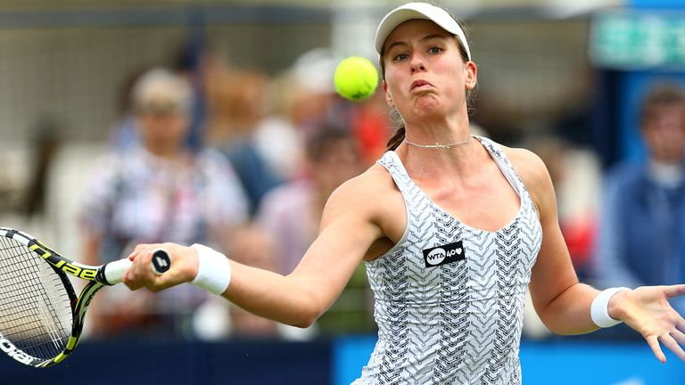 Johanna Konta experienced few problems in reaching the second round of the Guangzhou Open in China