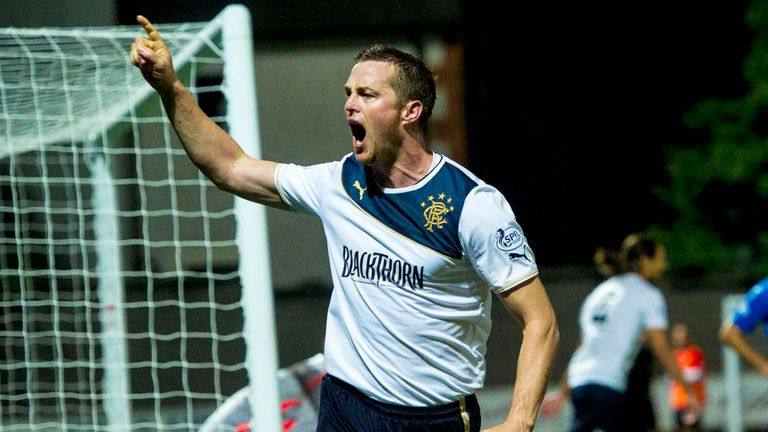 Jon Daly: Scored his first goal for Rangers