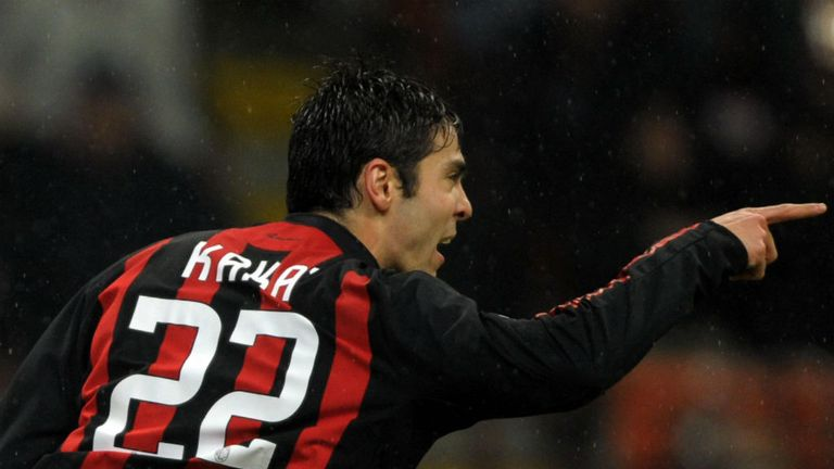 Kaka: Desperate to take his place in the Brazil squad at a home World Cup