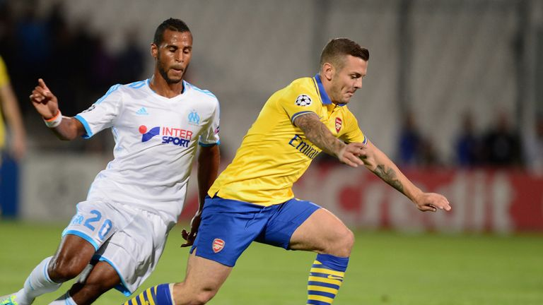 Alaixys Romao (l): In action against Arsenal earlier this season