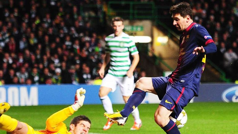 Lionel Messi: Barcelona striker scored on his last visit to Celtic Park when his team lost 2-1
