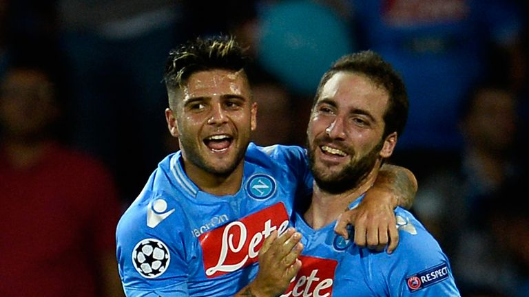Gonzalo Higuain (r): Amongst the goals for Napoli.