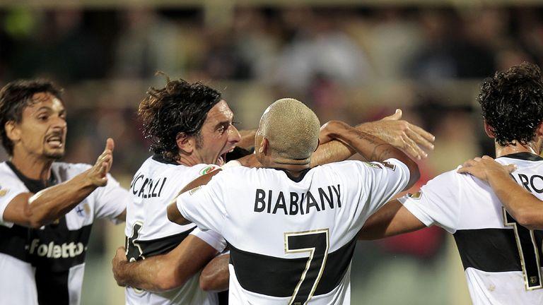 Parma celebrate their dramatic equaliser