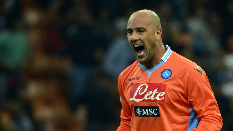 Pepe Reina: Napoli keeper up for the battle against Arsenal