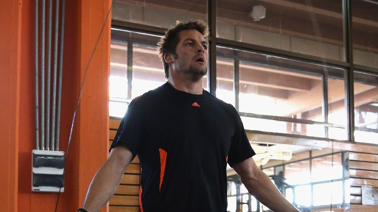 Richie McCaw: Back in the gym this week