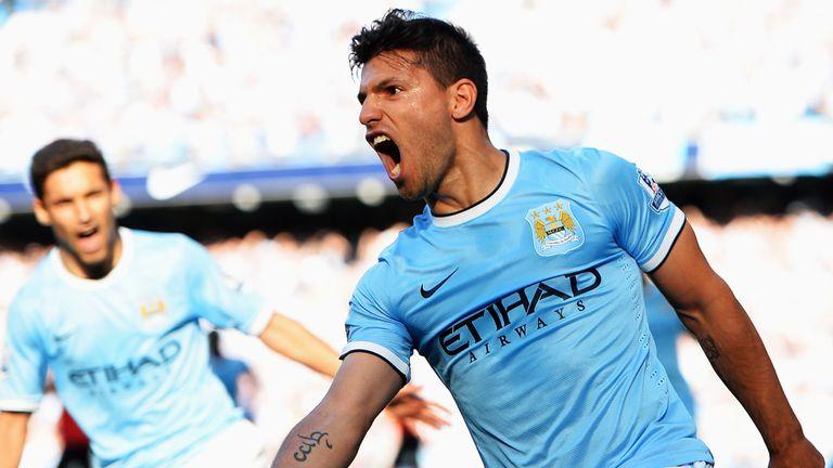 Sergio Aguero: Pleased with how Man City are progressing