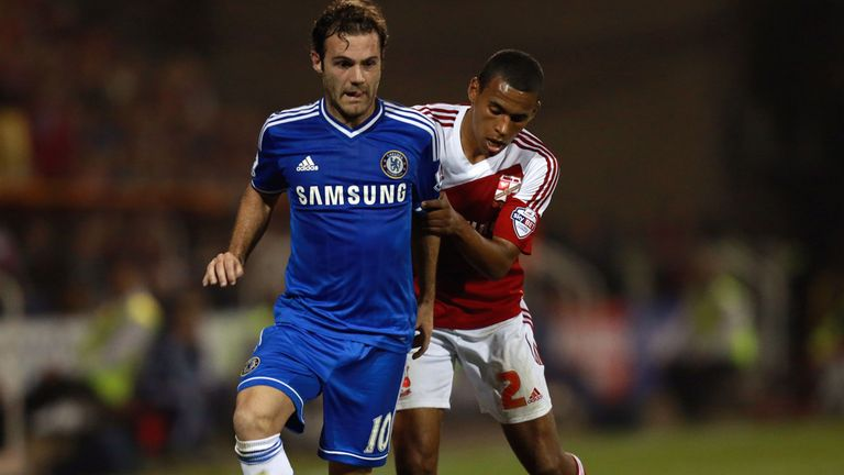 Juan Mata: Impressed Steve Holland with display in cup win at Swindon