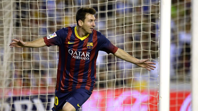 Lionel Messi: Bagged three at Valencia