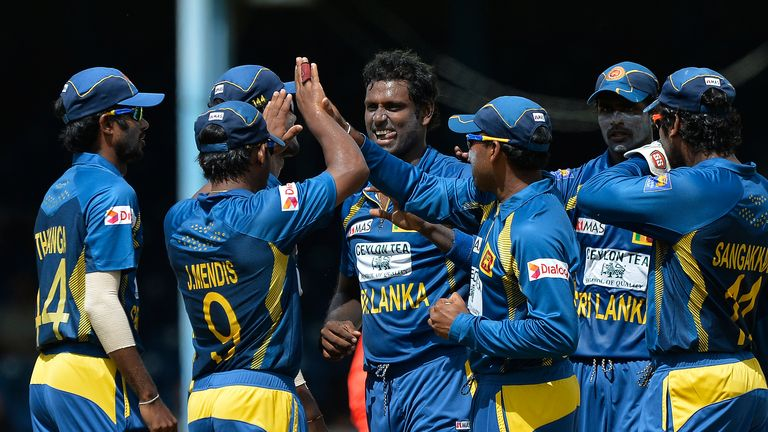 Angelo Mathews (centre): Current Sri Lanka captain