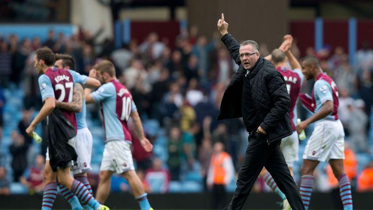 Paul Lambert celebrates victory