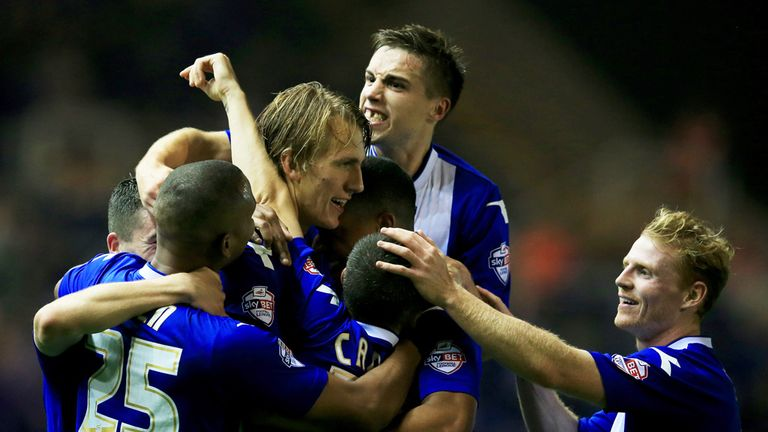 Birmingham: Celebrate Dan Burn's opener against Swansea