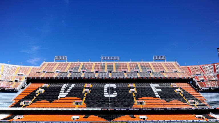 Mestalla Stadium: Set to host the Copa del Rey final