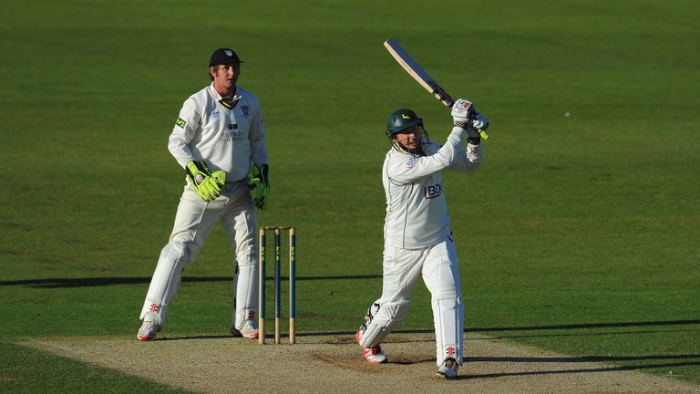 David Hussey bats for Nottinghamshire