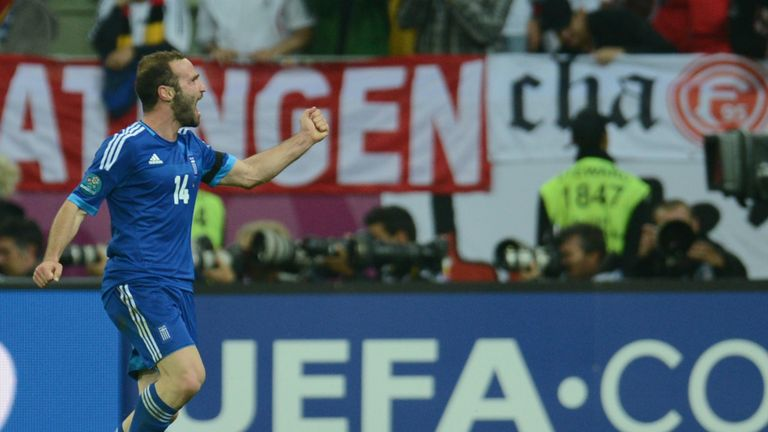 Dimitris Salpingidis scored the lone goal as Greece secured victory over Latvia