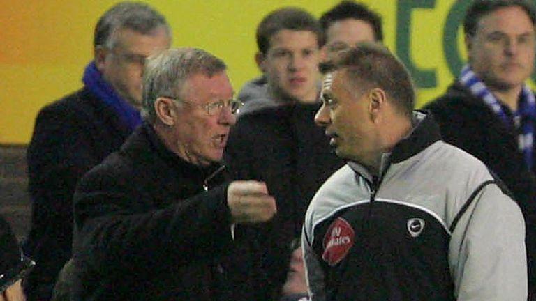 Sir Alex Ferguson and Mark Halsey: On the touchlines