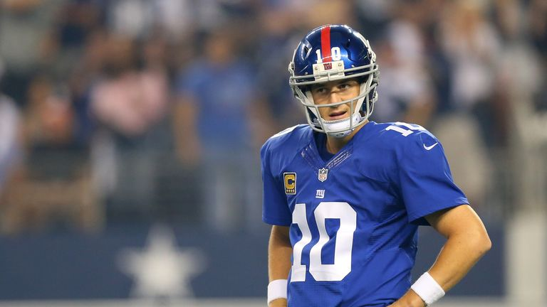 Eli Manning: lost to his older brother Peyton on their two previous NFL encounters