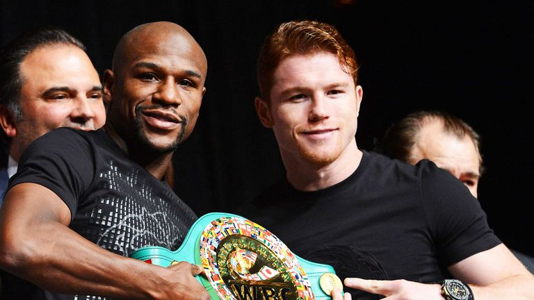Floyd Mayweather and Saul Alvarez: Both undefeated