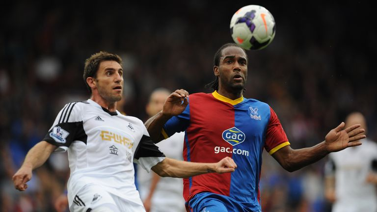 Cameron Jerome: Battling for ball with Angel Rangel