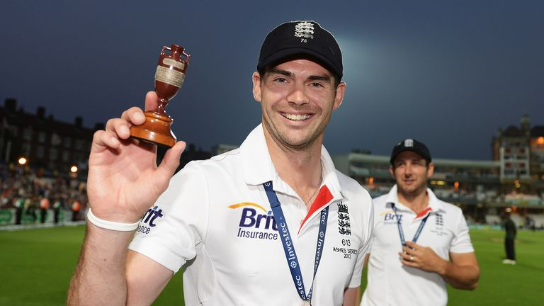 James Anderson: Will hope to help England hold onto the little urn once more in Australia