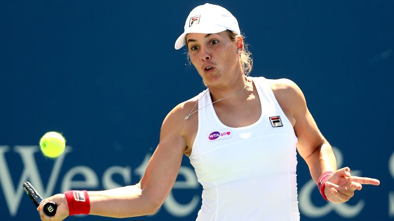 Marina Erakovic: Survived a scare against Mallory Burdette
