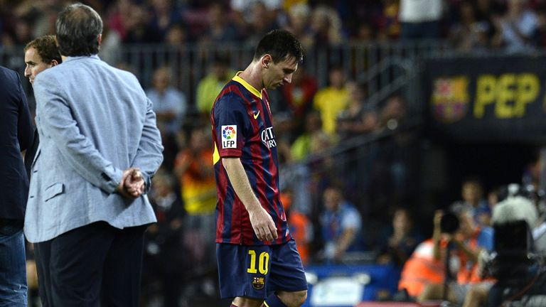 Lionel Messi: Substituted against Real Sociedad
