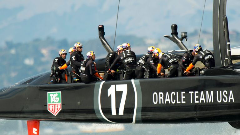 Oracle Team USA: Kept alive their hopes of retaining the Auld Mug for a little longer
