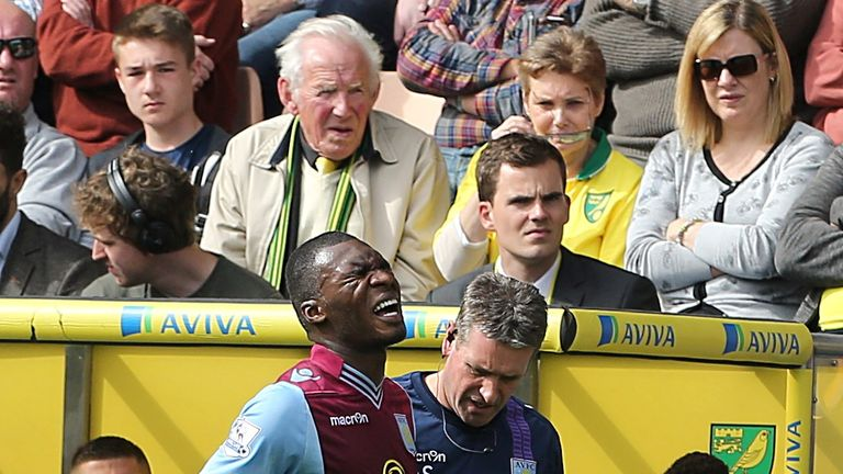 Christian Benteke: Limped off pitch at Carrow Road on Saturday