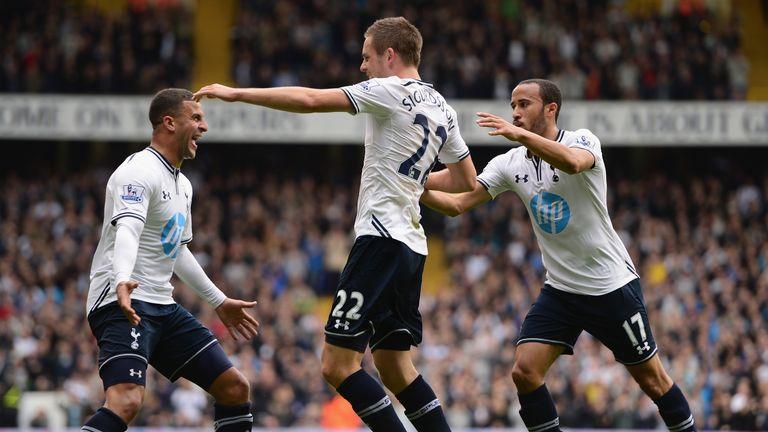 Gylfi Sigurdsson: Celebrates Spurs' opening goal