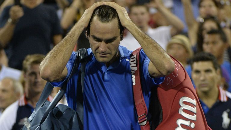Roger Federer: Failed to reach a Grand Slam final this year