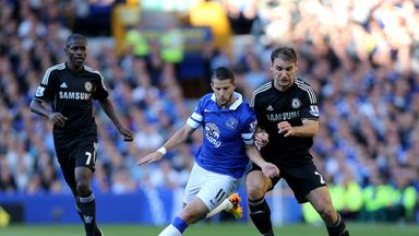 Kevin Mirallas: Everton forward takes on Chelsea's Branislav Ivanovic