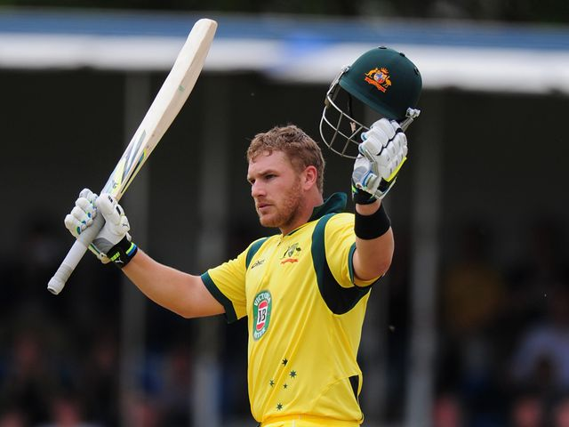 Aaron Finch: Helped Australia to an emphatic win