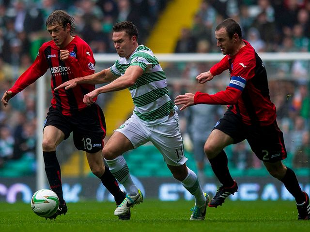 Derk Boerrigter in action for Celtic.