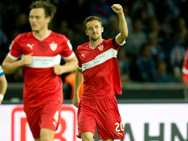 Christian Gentner celebrates the only goal of the game