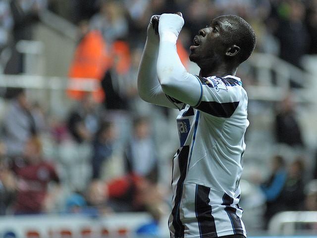 Cisse celebrates his strike against Leeds