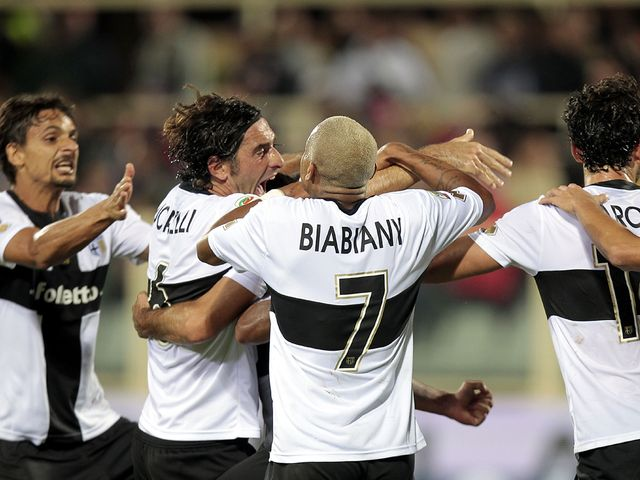 Parma celebrate their dramatic equaliser