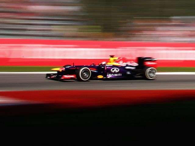 Sebastian Vettel in action during third practice