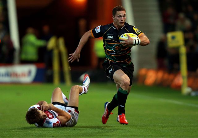 George North: Scored his first try for Northampton