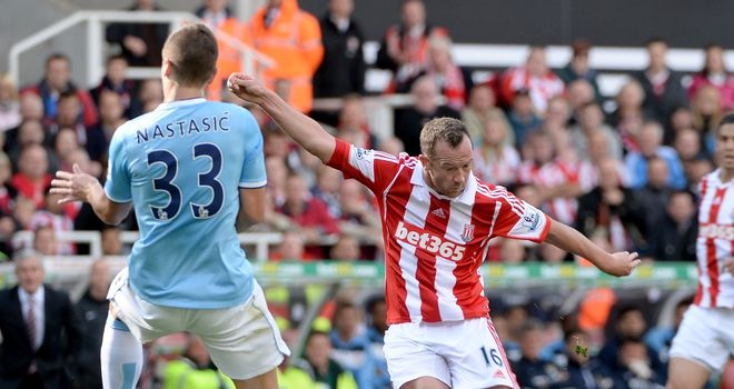 Charlie Adam: Impressed in Stoke's midfield against Manchester City