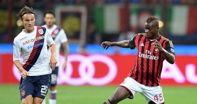 Mario Balotelli in action for AC Milan.